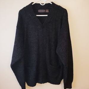 "David Taylor ""grandpa"" gray zippered cardigan XL"